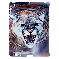 Cougar Animal Art Swirl Decorative Apple Ipad 3/4 Hardshell Case (compatible With Smart Cover)