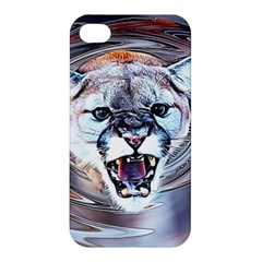 Cougar Animal Art Swirl Decorative Apple Iphone 4/4s Premium Hardshell Case