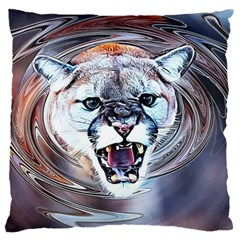 Cougar Animal Art Swirl Decorative Large Cushion Case (one Side)