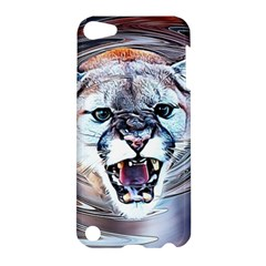 Cougar Animal Art Swirl Decorative Apple Ipod Touch 5 Hardshell Case