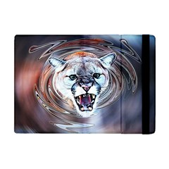 Cougar Animal Art Swirl Decorative Apple Ipad Mini Flip Case by Nexatart