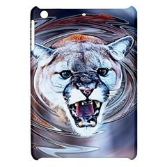 Cougar Animal Art Swirl Decorative Apple Ipad Mini Hardshell Case by Nexatart