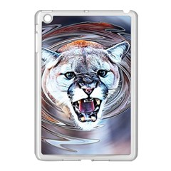 Cougar Animal Art Swirl Decorative Apple Ipad Mini Case (white) by Nexatart