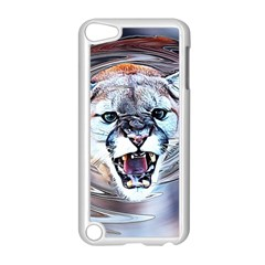 Cougar Animal Art Swirl Decorative Apple Ipod Touch 5 Case (white)
