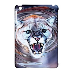 Cougar Animal Art Swirl Decorative Apple Ipad Mini Hardshell Case (compatible With Smart Cover)