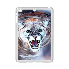 Cougar Animal Art Swirl Decorative Ipad Mini 2 Enamel Coated Cases by Nexatart