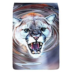 Cougar Animal Art Swirl Decorative Flap Covers (s)