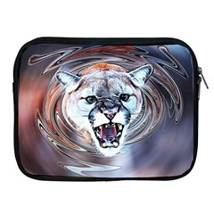 Cougar Animal Art Swirl Decorative Apple Ipad 2/3/4 Zipper Cases by Nexatart