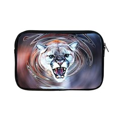 Cougar Animal Art Swirl Decorative Apple Ipad Mini Zipper Cases by Nexatart