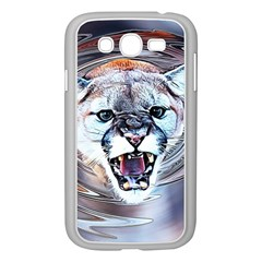 Cougar Animal Art Swirl Decorative Samsung Galaxy Grand Duos I9082 Case (white) by Nexatart
