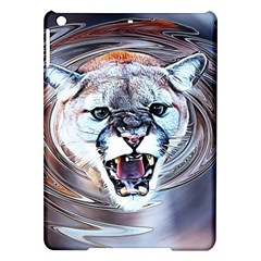 Cougar Animal Art Swirl Decorative Ipad Air Hardshell Cases by Nexatart