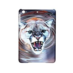 Cougar Animal Art Swirl Decorative Ipad Mini 2 Hardshell Cases by Nexatart