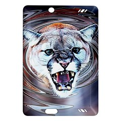 Cougar Animal Art Swirl Decorative Amazon Kindle Fire Hd (2013) Hardshell Case