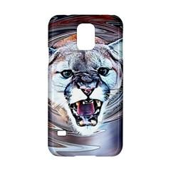 Cougar Animal Art Swirl Decorative Samsung Galaxy S5 Hardshell Case