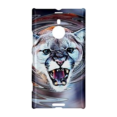 Cougar Animal Art Swirl Decorative Nokia Lumia 1520 by Nexatart