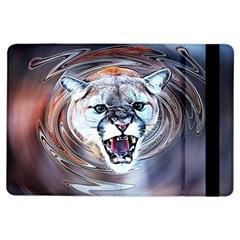 Cougar Animal Art Swirl Decorative Ipad Air Flip by Nexatart