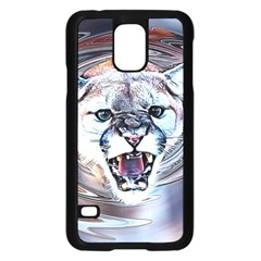 Cougar Animal Art Swirl Decorative Samsung Galaxy S5 Case (black)