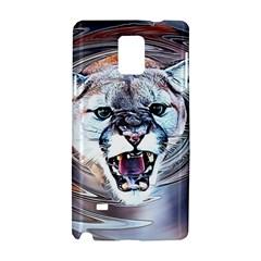 Cougar Animal Art Swirl Decorative Samsung Galaxy Note 4 Hardshell Case