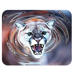 Cougar Animal Art Swirl Decorative Double Sided Flano Blanket (medium)  by Nexatart