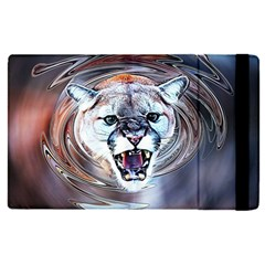 Cougar Animal Art Swirl Decorative Apple Ipad Pro 9 7   Flip Case by Nexatart