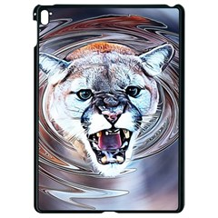 Cougar Animal Art Swirl Decorative Apple Ipad Pro 9 7   Black Seamless Case by Nexatart