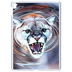 Cougar Animal Art Swirl Decorative Apple Ipad Pro 9 7   White Seamless Case by Nexatart