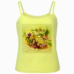 Flowers Bouquet Art Nature Yellow Spaghetti Tank