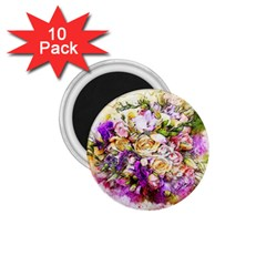 Flowers Bouquet Art Nature 1 75  Magnets (10 Pack)