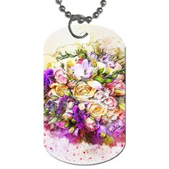 Flowers Bouquet Art Nature Dog Tag (two Sides) by Nexatart
