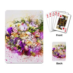 Flowers Bouquet Art Nature Playing Card