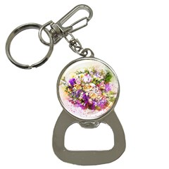 Flowers Bouquet Art Nature Button Necklaces