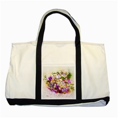 Flowers Bouquet Art Nature Two Tone Tote Bag