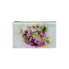 Flowers Bouquet Art Nature Cosmetic Bag (small)
