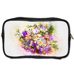Flowers Bouquet Art Nature Toiletries Bags