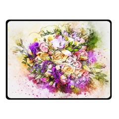 Flowers Bouquet Art Nature Fleece Blanket (small)