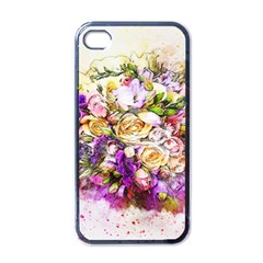 Flowers Bouquet Art Nature Apple Iphone 4 Case (black)