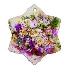 Flowers Bouquet Art Nature Ornament (snowflake)