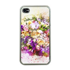 Flowers Bouquet Art Nature Apple Iphone 4 Case (clear)