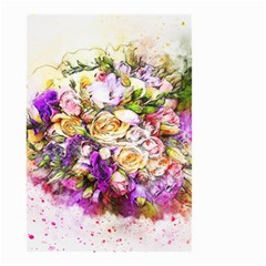 Flowers Bouquet Art Nature Small Garden Flag (two Sides)