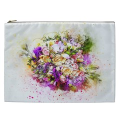 Flowers Bouquet Art Nature Cosmetic Bag (xxl)