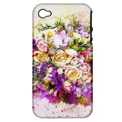 Flowers Bouquet Art Nature Apple Iphone 4/4s Hardshell Case (pc+silicone)