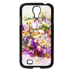Flowers Bouquet Art Nature Samsung Galaxy S4 I9500/ I9505 Case (black)
