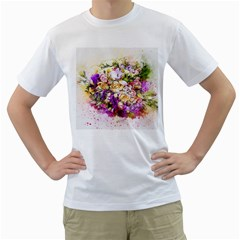 Flowers Bouquet Art Nature Men s T Shirt (white)