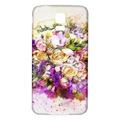 Flowers Bouquet Art Nature Samsung Galaxy S5 Back Case (white)
