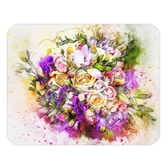 Flowers Bouquet Art Nature Double Sided Flano Blanket (large)