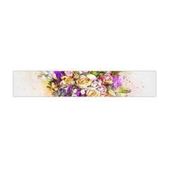 Flowers Bouquet Art Nature Flano Scarf (mini)
