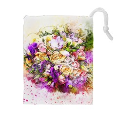 Flowers Bouquet Art Nature Drawstring Pouches (extra Large) by Nexatart