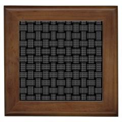 Background Weaving Black Metal Framed Tiles