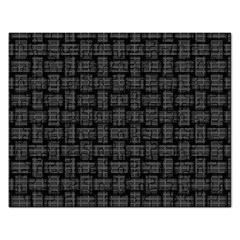 Background Weaving Black Metal Rectangular Jigsaw Puzzl