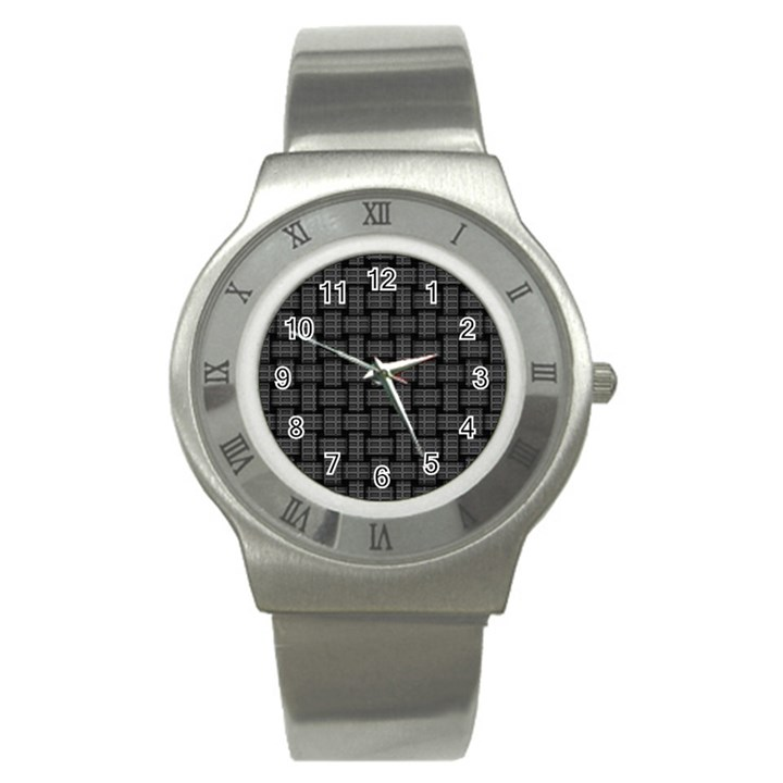 Background Weaving Black Metal Stainless Steel Watch